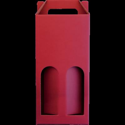 Kasírozott 2-es bordó színű díszdoboz